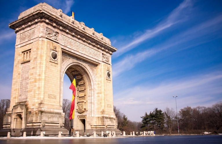 The Arch of Triumph, Bucharest, Romania