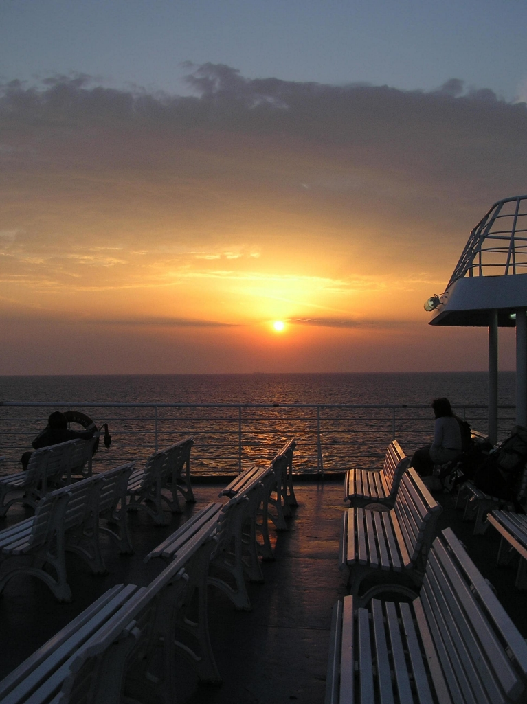 Sunset seen from ferry