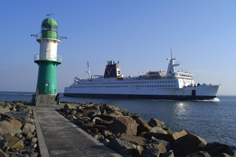 Finnlines ferry leaving port