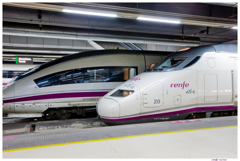 Treno Renfe-SNCF in arrivo a Barcellona