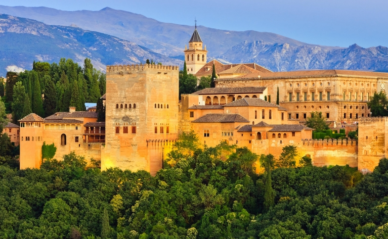 The Alhambra palace in Granada, Spain