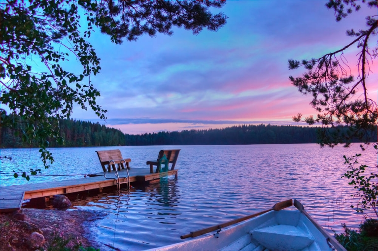 Don't miss the unreal colours of a Finnish sunset