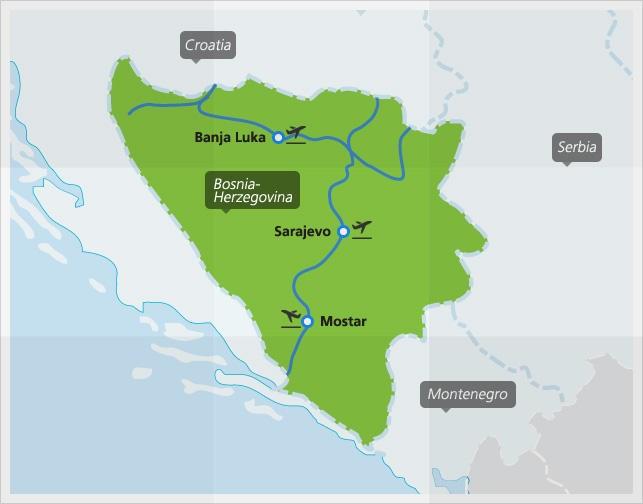 Trains in Bosnia-Herzegovina   Interrail.eu on croatia map, luxembourg map, eritrea map, bulgaria map, srebrenica massacre, monaco map, serbia map, austria map, iran map, bosnian war, vatican city map, turkey map, estonia map, albania map, slovakia map, slovenia map, republika srpska, macedonia map, hungary map, ukraine map, kosovo map, republic of macedonia, san marino map,