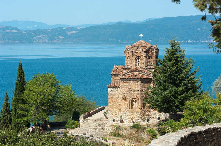Orthodox church Saint John at Kaneo on Lake Ohrid
