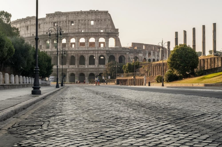 Admire the magnificent Colosseum