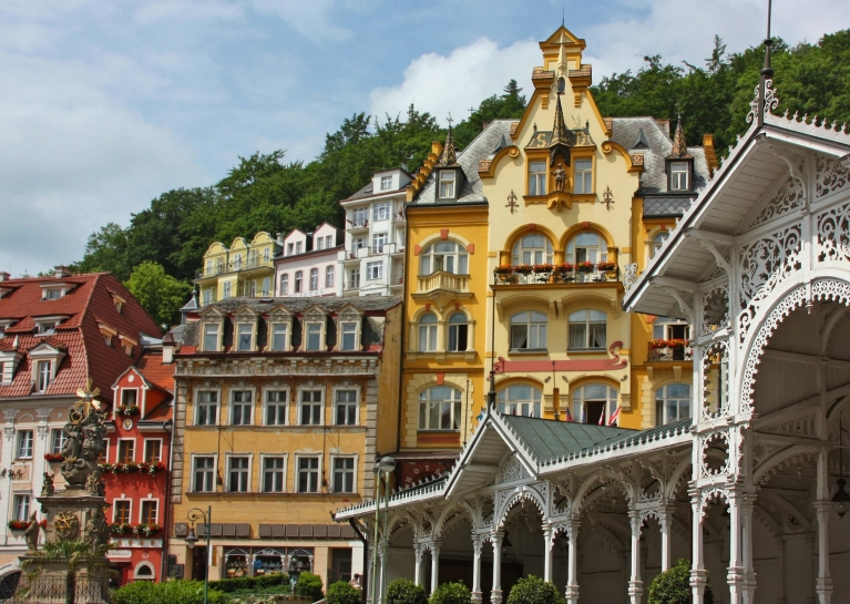 Old town of Karlovy Vary