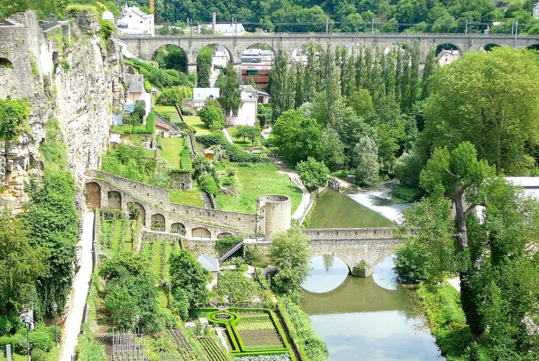Grund Valley, Luxembourg city