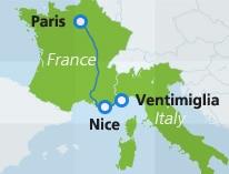 Cartina Italia Francia E Spagna.Treni Tra Francia Italia E Spagna Interrail