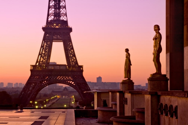 The Eiffel Tower at Dawn - Paris, France
