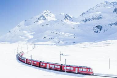 Bernina express in Zwitserland