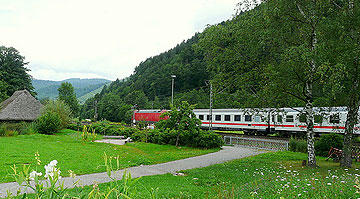 Train crossing Black Forest, Germany