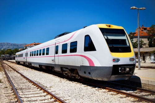 Train rapide en Croatie