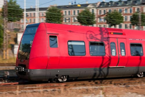 Train au Danemark