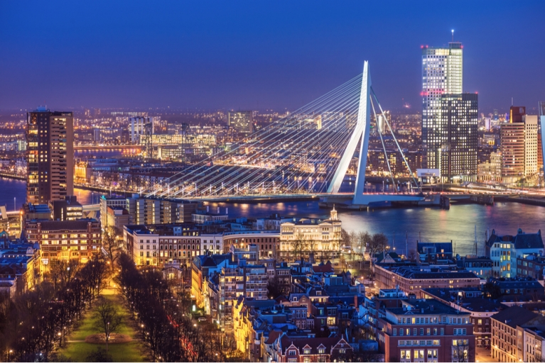 Skyline of Rotterdam, the Netherlands