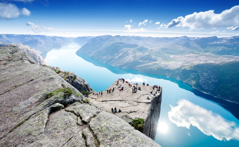 The Pulpit Rock overlooking the Lysefjord