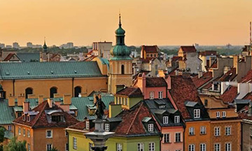 poland-warsaw-skyline-during-sunset