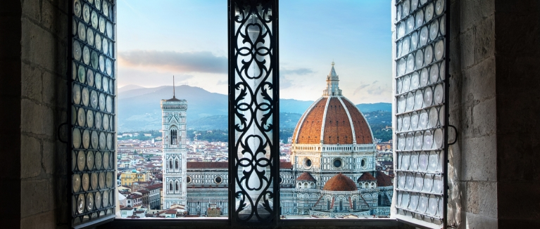 Florence Duomo through window