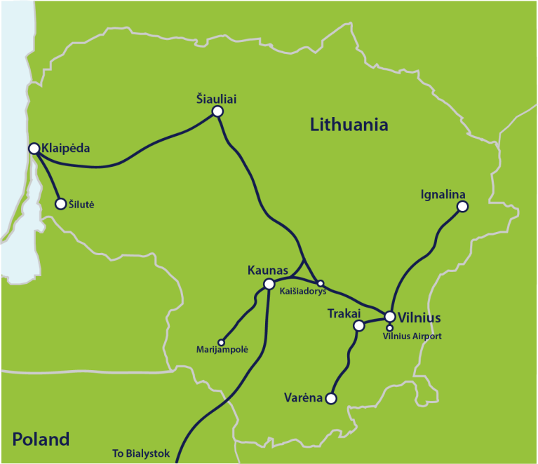 Map lithuania trains updated aug19