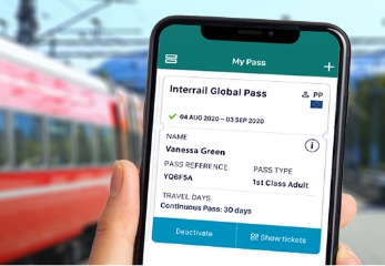 Interrail mobile Global Pass